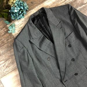 Hardy Amies • tailored double breast charcoal suit